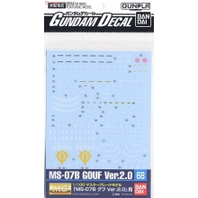 Gundam Decal 068 - 1/100 MG MS-07B Gouf Ver.2.0