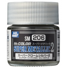 Mr.COLOR SUPER METALLIC 2 Super Chrome Silver 2