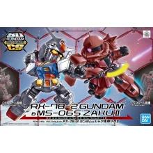 SD Gundam Cross Silhouette: RX-78-2 Gundam & Char's Zaku II