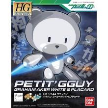 1/144 HGPG Petit'gguy Graham Aker White & Placard